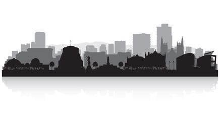 Wellington New Zealand city skyline silhouette