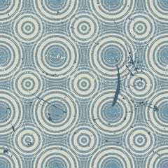 Fotobehang Fractal waves Grunge geometric seamless pattern, vintage vector repeat backgro