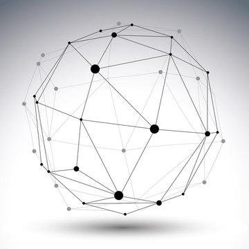 Spatial vector contrast digital eps8 object, geometric dimension