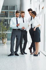 Business People. Successful business partners discuss project