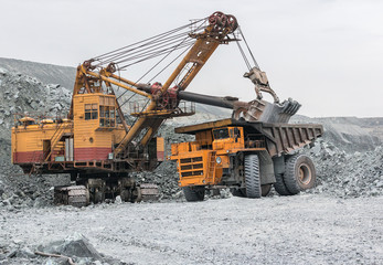 Excavator loads