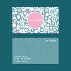 Vector colorful bubbles vertical round frame pattern business