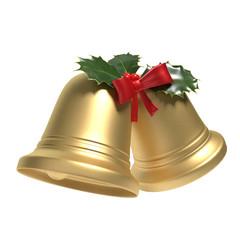 3d illustration of Christmas Bells