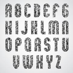 Pattern glamorous black and white fashionable font, upper case l