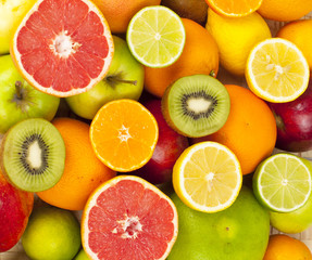 Citrus fruit background