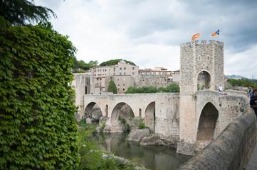 medieval village of besalu in catalonia Spain