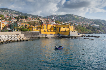 Promenade of Funchal with the castle of Sao Tiago,  Madeira Fototapete