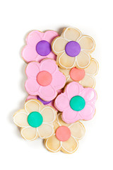 Summer Flower Decorated Cookies. Selective focus.