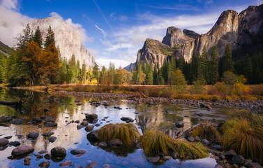 El Capitan Bridal Viel Falls Merced River Yosemite National Park Wall mural