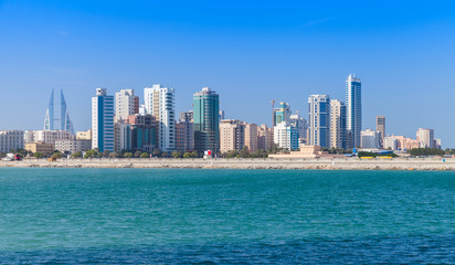 Skyline of Manama city, Bahrain, Middle East