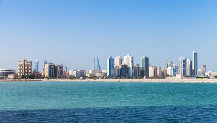 Panoramic Skyline of Manama city, Bahrain