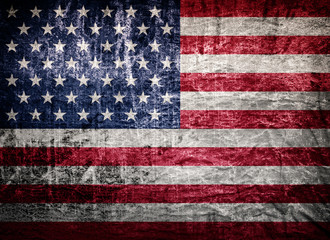 old worn and grunge American flag