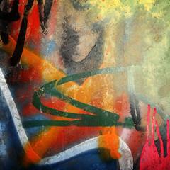 Fototapete - graffiti paint background