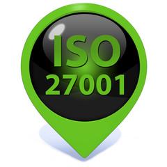 Iso 27001 pointer icon on white background