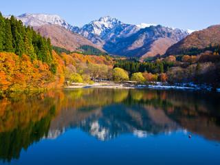 秋の大源太湖 Daigenta-lake in autumn