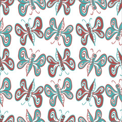 abstract butterfly pattern