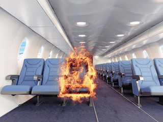 fire in the airplane