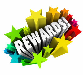 Rewards 3d Word Stars Prize Incentive Bonus Enticement