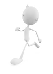 White character with running pose
