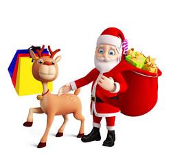 Santa and Reindeer for christmas
