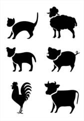 Animals silhouette