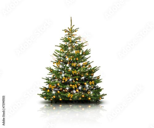 weihnachtsbaum mit goldenen kugeln stockfotos und lizenzfreie bilder auf bild. Black Bedroom Furniture Sets. Home Design Ideas