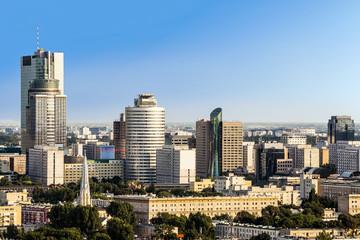 City at sunny day