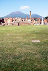 The Forum with Vesuvius in Pompeii