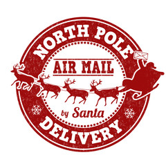 North Pole delivery stamp