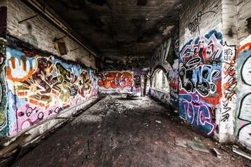 Foto auf AluDibond Graffiti Graffiti