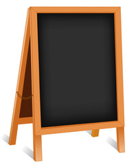 Sign, Small Business Week, folding chalk board easel wood frame