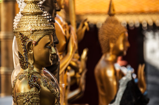 Inside Doi-Suthep temple, Doi-Suthep,Chiang Mai, Thailand