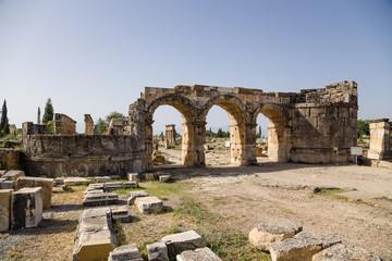 erapolis, Turkey. Gate of Domitian (Frontinus) 86-87 years AD
