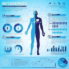 Medical Element Infographics. Vector Illustration