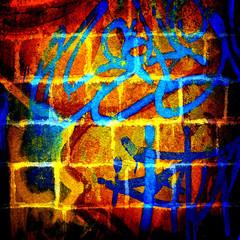Fototapete - graffiti bricks wall