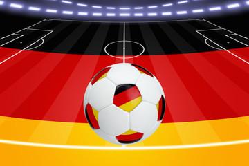 Soccer ball, German flag