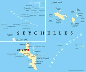 Seychelles Political Map