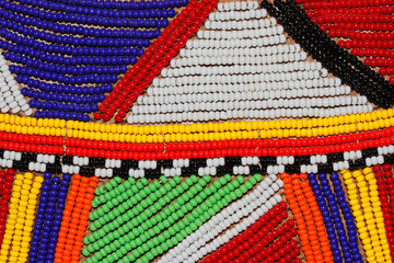 African beads used as decoration by the Masai tribe