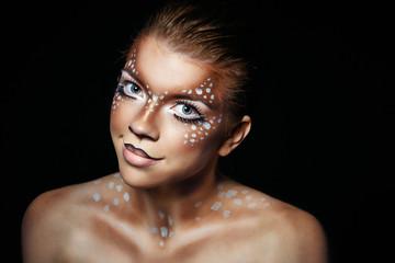 Girl with makeup deer