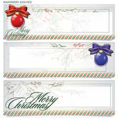 Vector set: banners for Christmas and New Year
