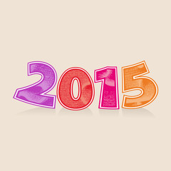 Abstract vector numbers 2015 New Year's headline