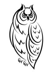 Sketch of an owl bird