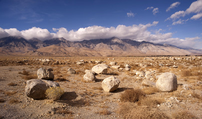 Mesquite Flat Cottonwood Mountains Death Valley Desert Landscape
