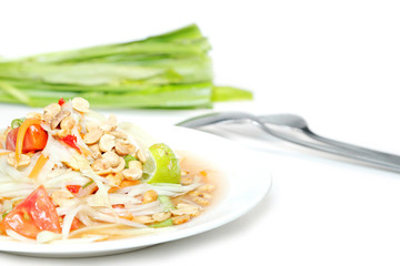 Papaya salad Thai food