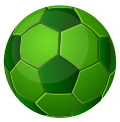 Green soccer ball vector image