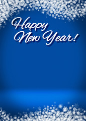 Happy New Year 3D Winter Background