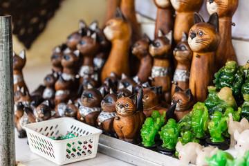 Thai wooden cats