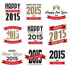 Happy new year typographic  design