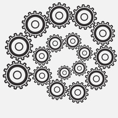 Design of gears of different diameters