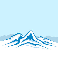 Vector of the high winter mountains .